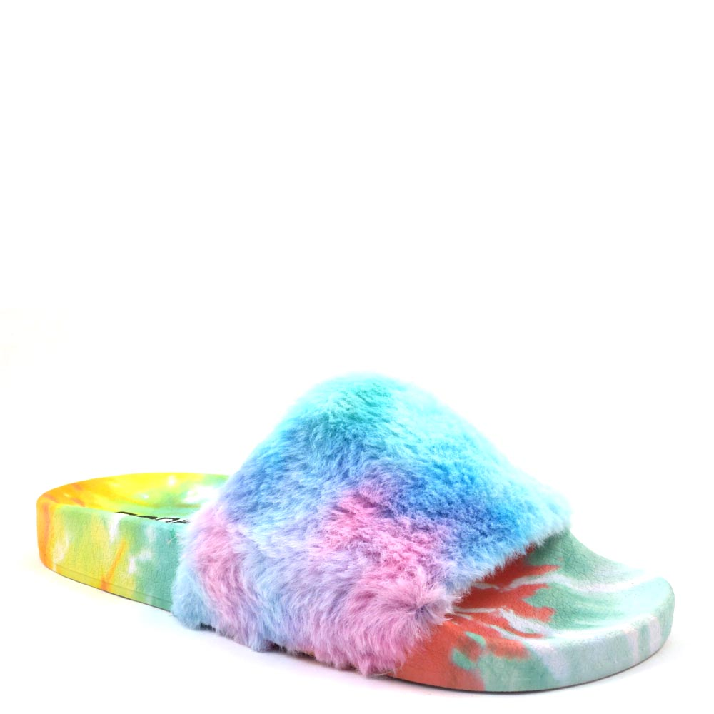 Soda Open Toe Fury House Slippers - Yoga