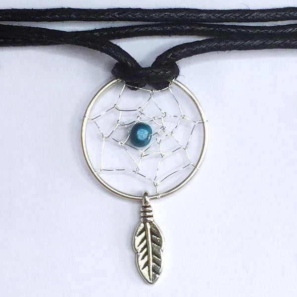 Handmade Dreamcatcher Choker - Sterling Silver - Cat's Curiosity Shop