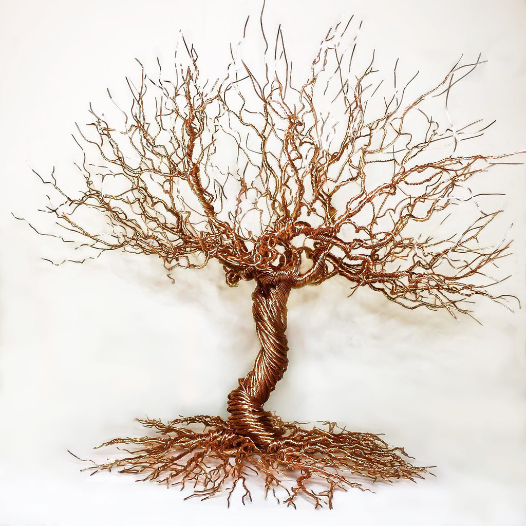 Copper Tree - Wire Sculpture - Cat's Curiosity Shop