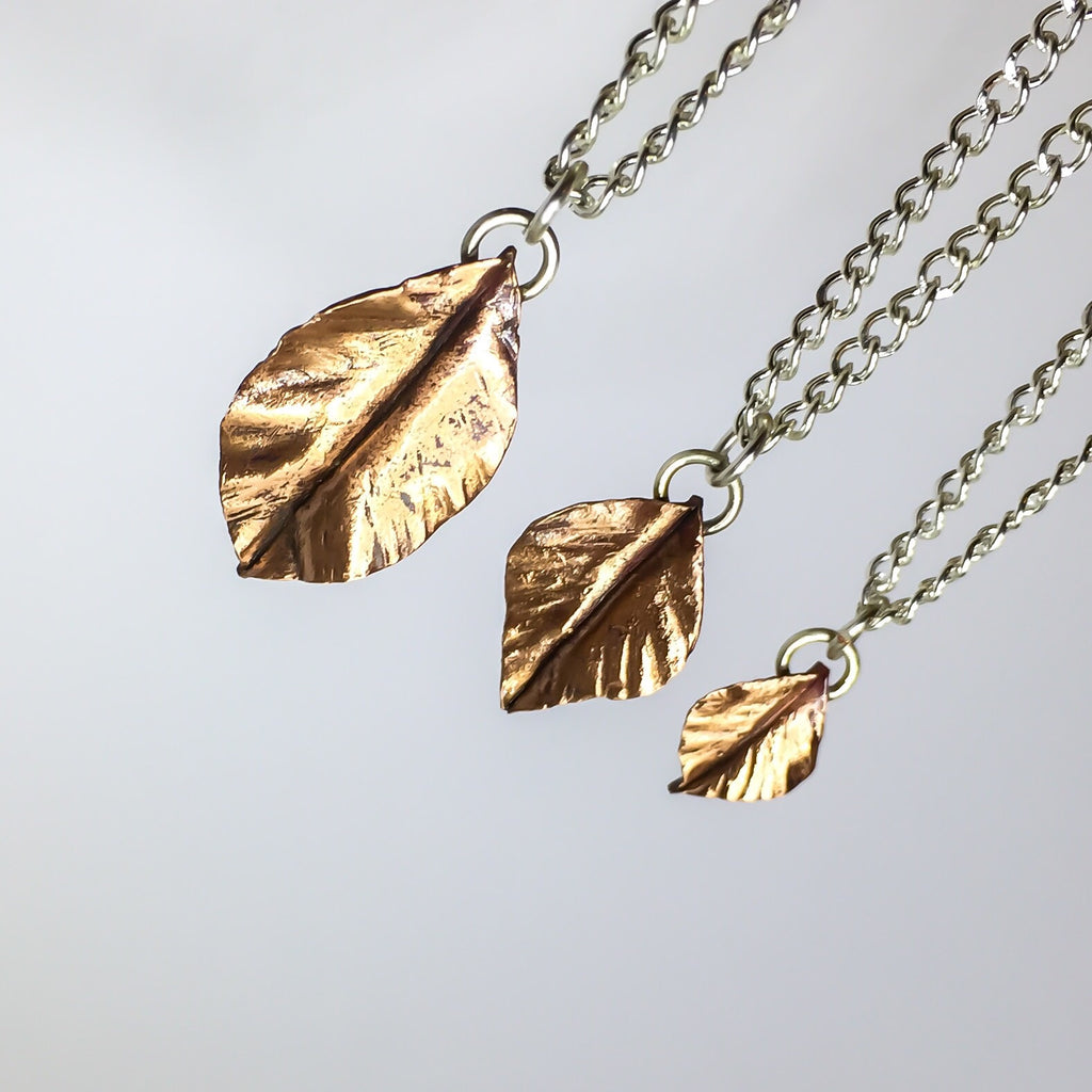 Falling Leaf Necklace - Cat's Curiosity Shop