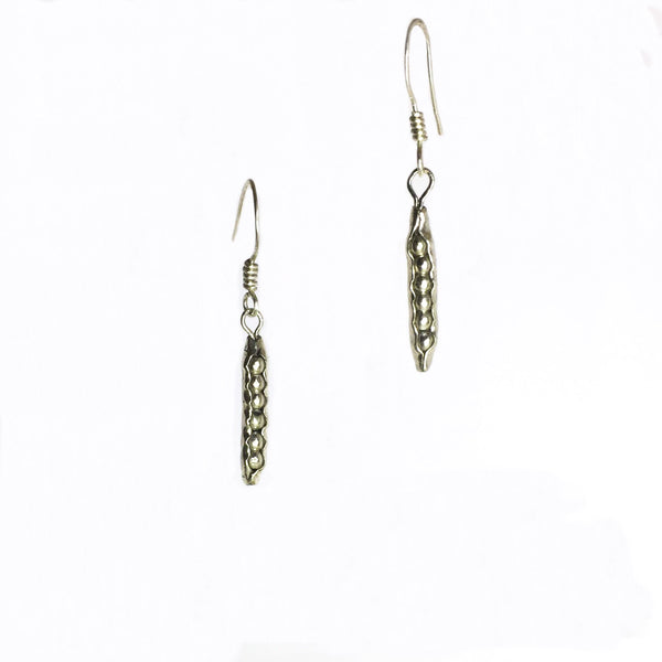 Peas in a Pod Earrings - nickel-free fine silver (999) - Cat's Curiosity Shop