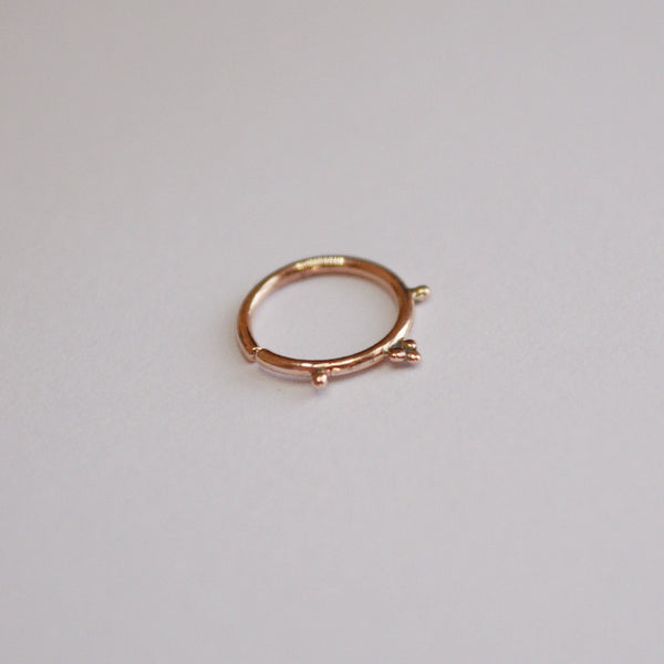 Delicate Rose Gold Piercing Hoop - Cat's Curiosity Shop