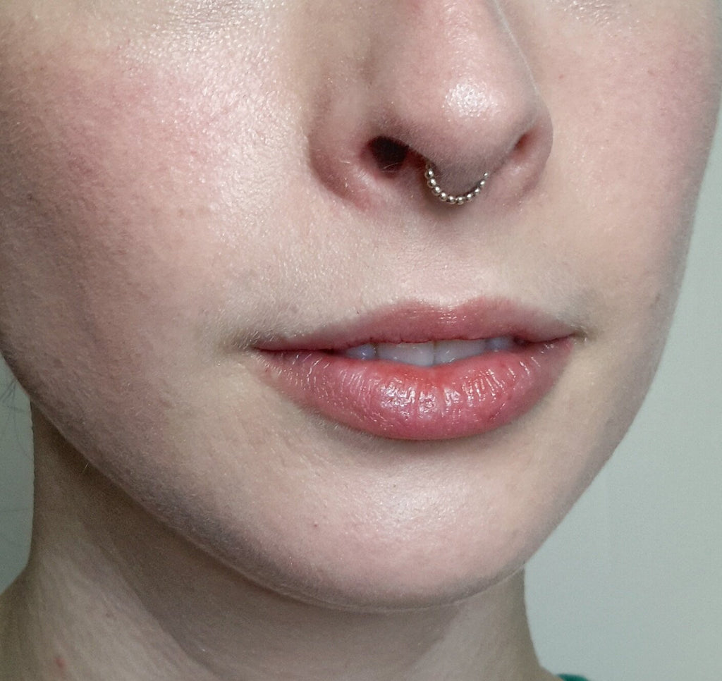 Gold Beaded Septum Ring Nickel Free All Sizes Cats Curiosity Shop