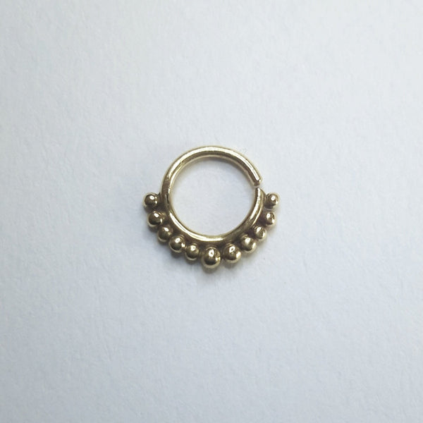 Gold Nose Ring - Indian / Tribal Septum, Nose, Cartilage or Tragus Jewelry - Cat's Curiosity Shop