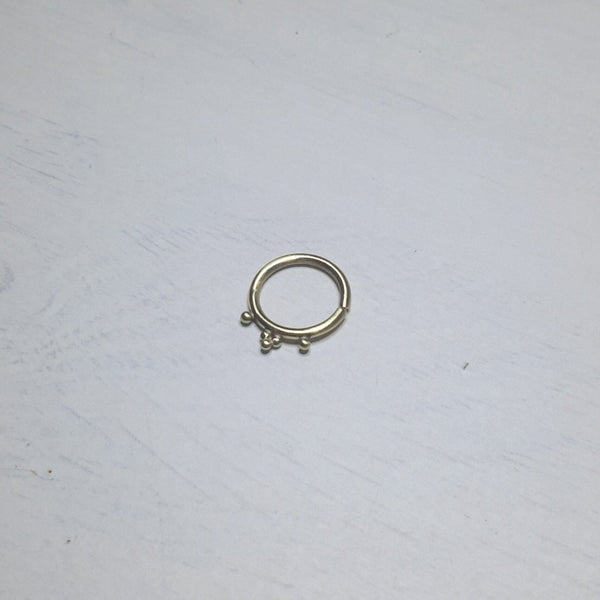 Gold Septum Jewelry - 9ct Indian nose ring, cartilage earring, or tribal tragus hoop - Cat's Curiosity Shop