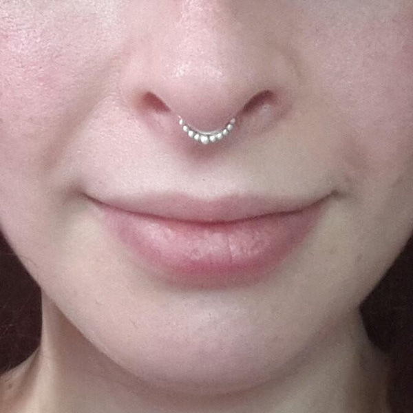 Indian Septum Ring - Nickel free silver - Cat's Curiosity Shop