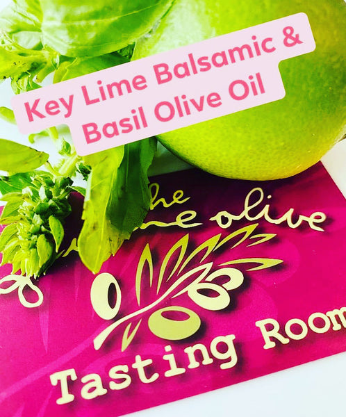 Key Lime White Balsamic & Basil Olive Oil