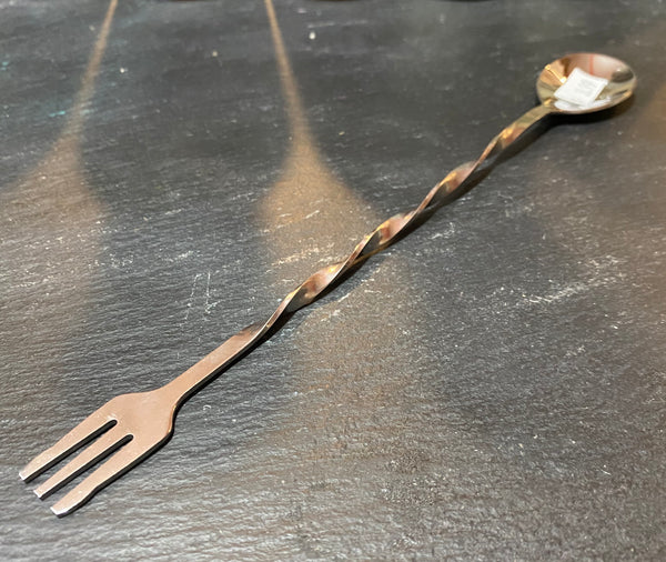 Metal Cocktail Spoon & Fork