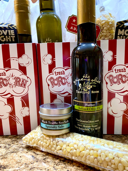 Popcorn Kit w/ Black Truffle Sea Salt & Butter Olive Oil