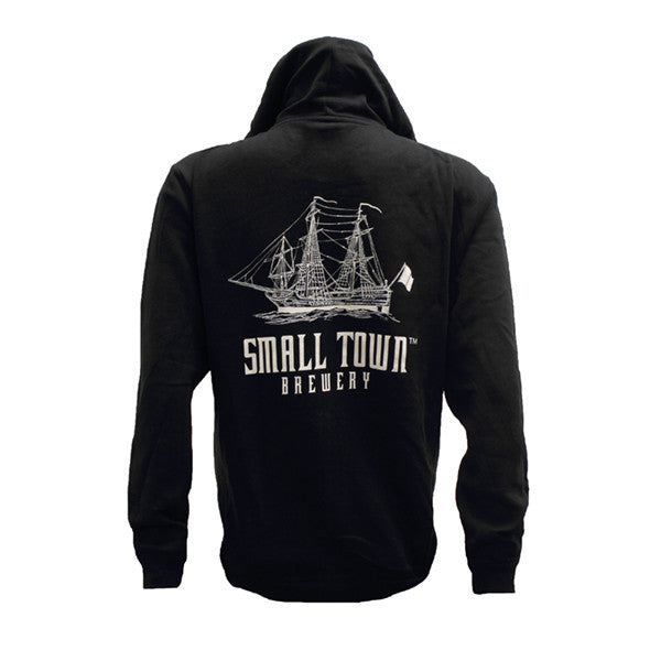 SMALL TOWN BREWERY BLACK ZIP-UP HOODIE