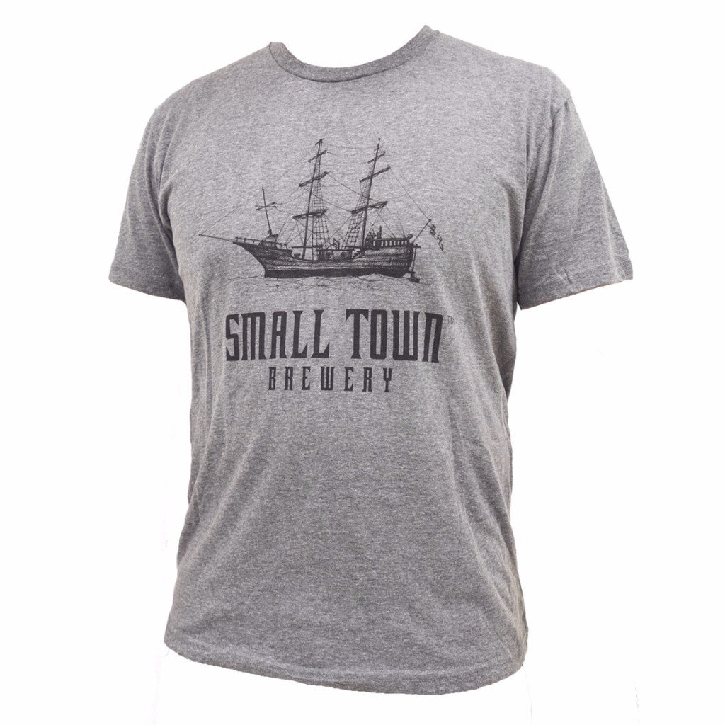 SMALL TOWN BREWERY GREY TEE