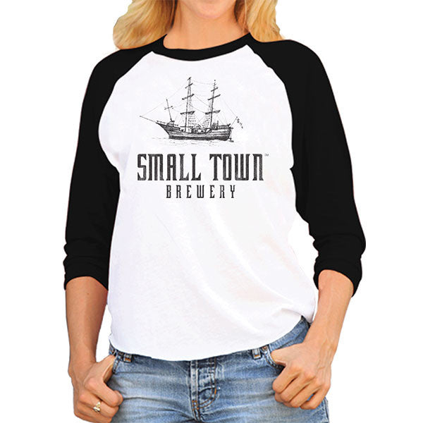 SMALL TOWN WOMEN'S BASEBALL TEE