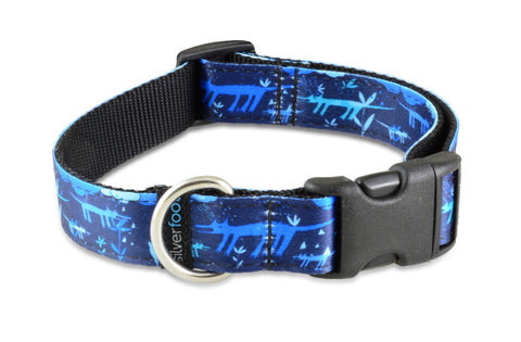 Sublimation Dog Clip Collar - Rain Dog Blue