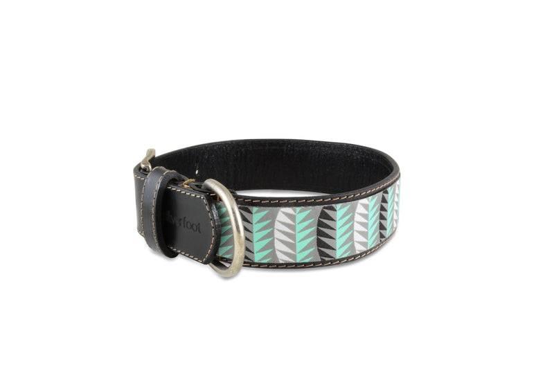 "Dog Leather Collar Large 1 1/2"" width"
