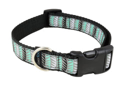 Dog Clip Collar - Jungle Leaf Teal