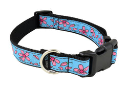 Dog Clip Collar - Windflower Blue