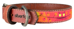 "Dog Leather Collar Medium 1"" width"