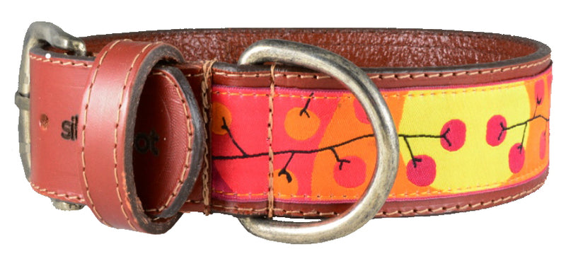 "Dog Leather Collar XLarge 1 1/2"" width"
