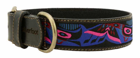 "Dog Leather Collar XLarge 1.5"" width"