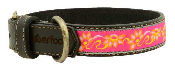 "Dog Leather Collar XLarge 1"" width"