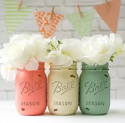 reuse jars for flowers