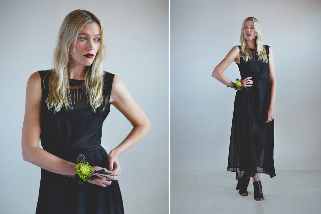 Portland Local Fashion Altar PDX Houseline Sheer Black Chiffon Dress