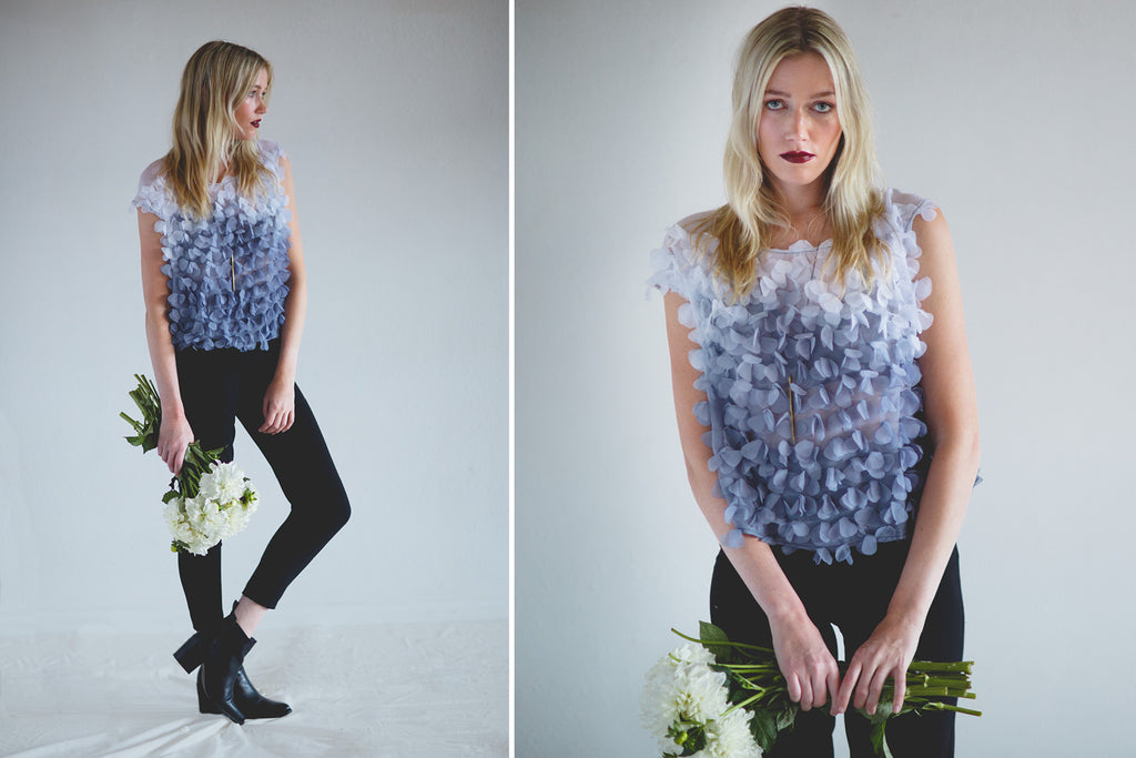 Portland Local Fashion Altar PDX Houseline Flower Petal Chiffon Top