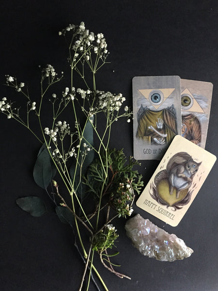 Portland Local Tarot Card Skullgarden Earthbound Oracle Altar PDX