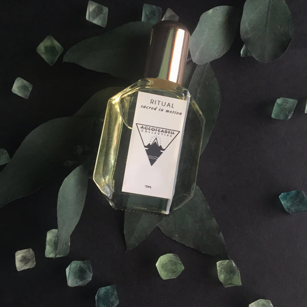 Age of Earth Collective Perfume Hidden, Shop Portland Local, Altar PDX Fluorite
