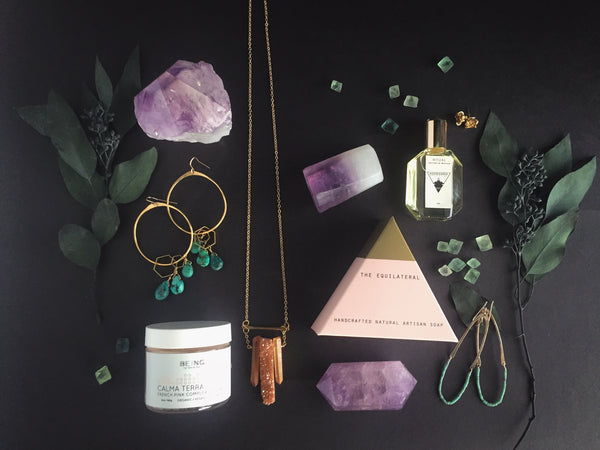 Portland Local Altar PDX Mother's Day Gift Guide Clay Masks, Earrings, Crystals, Soaps, Perfumes, Robes and Shawls
