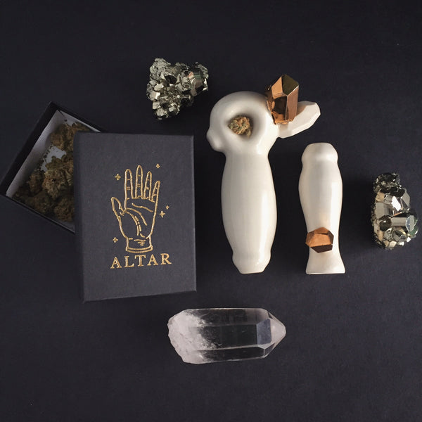 Smoke Weed Marijuana Art pipes Stonedware Ceramic Pipes Porcelain Pipes Altar PDX Crystal Pipes
