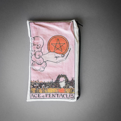 Olivia Frankenstein, Zipper Pouch, Ace of Pentacles Tarot