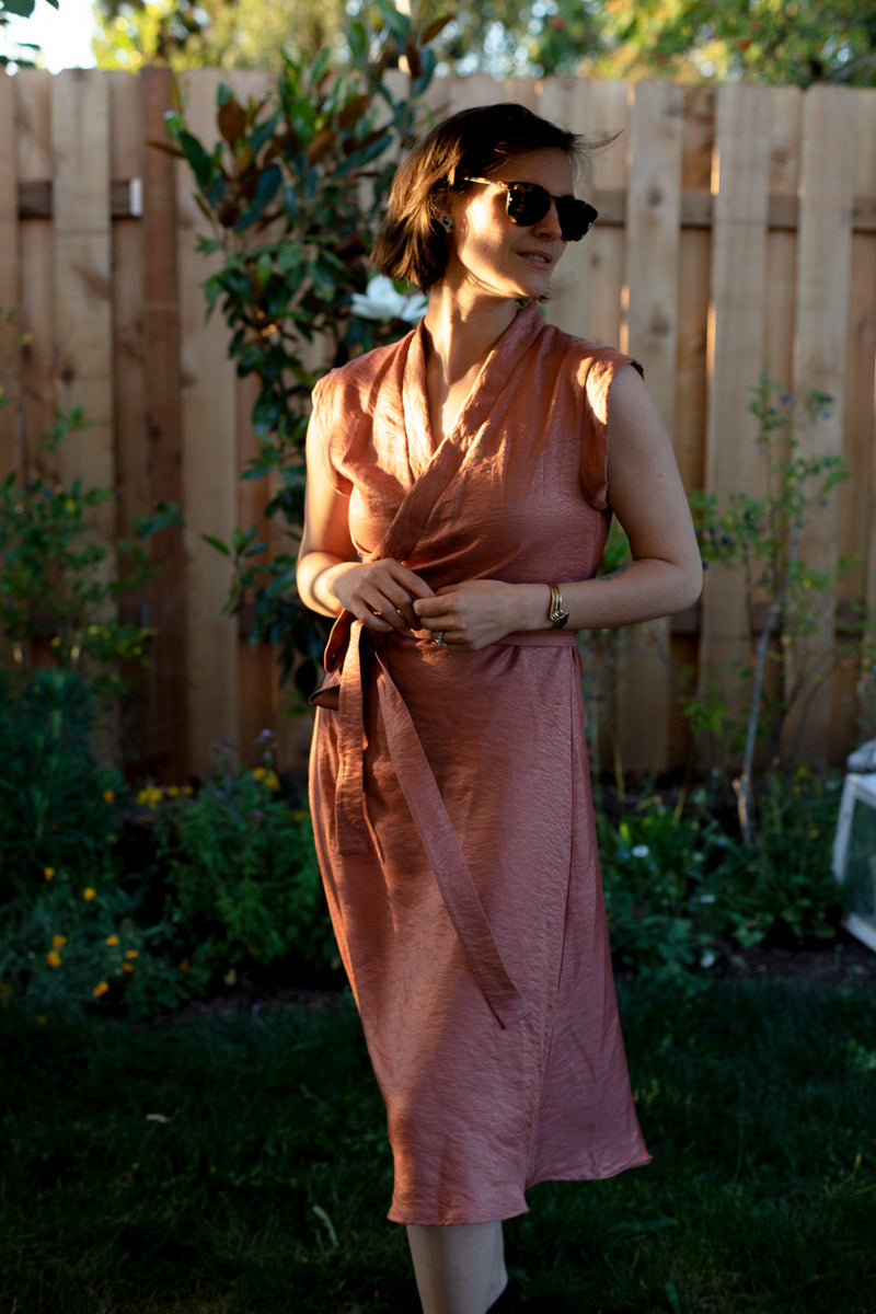 Francis Dress in Rose Gold
