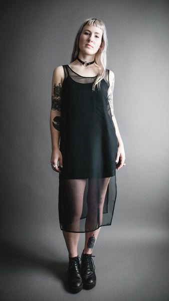 Black Sheer Shade Dress