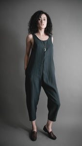 Deep Moss Houseline Jumpsuit, Apparel, Altar Houseline - Altar PDX