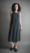 Deep Moss Pocket Shift Dress, Apparel, Altar Houseline - Altar PDX