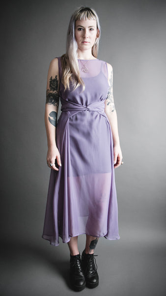 Lilac Tie Front Dress