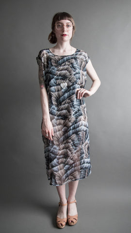 River Print Flounce Dress