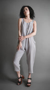 Silver Silky Cupro Houseline Jumpsuit, Apparel, Altar Houseline - Altar PDX