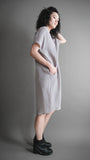 Silver Silky Cupro Tunic Dress
