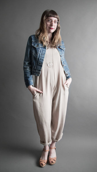 Taupe Wide Leg Jumpsuit