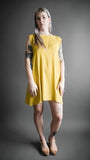 Yellow Raglan Sleeve Dress