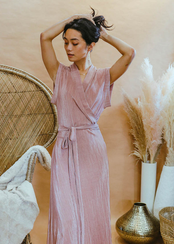 Francis Dress in Pleated Tea Rose PRESALE
