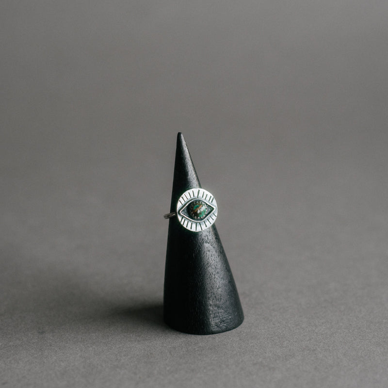 Eyeball Ring with Stone