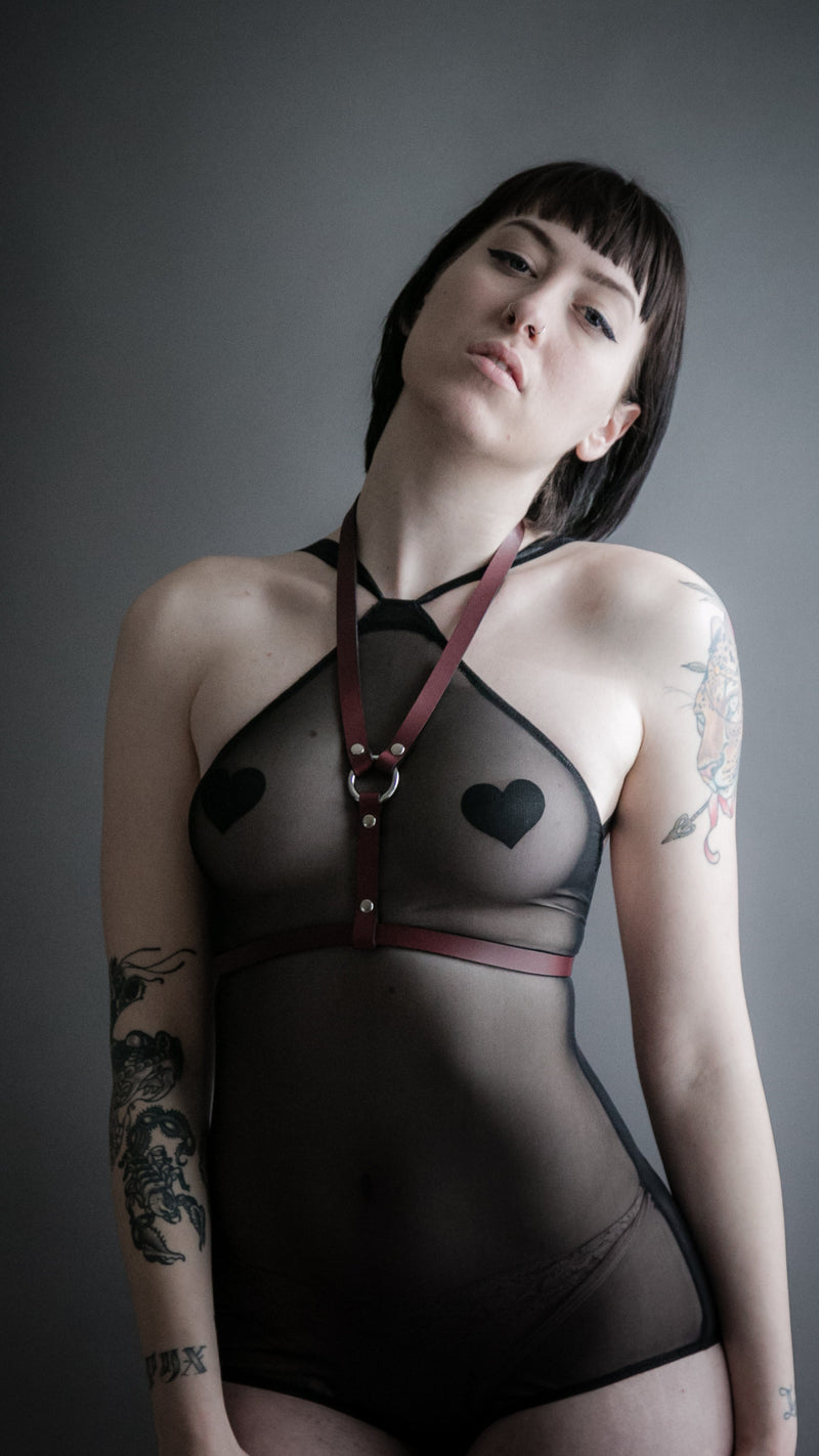 Oxblood Lola Harness, Accessories, Blackhorne - Altar PDX