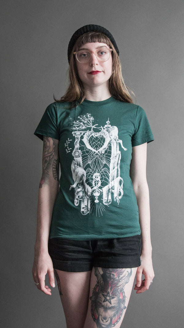 'Voice/Name' Green Tee, T Shirt, Brian Uhl - Altar PDX