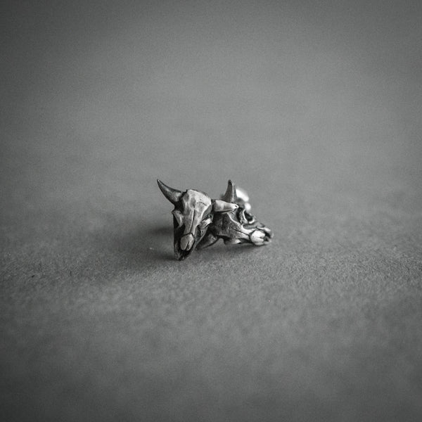 Theeth Stud Earrings - Buffalo Skulls, Jewelry, Theeth - Altar PDX
