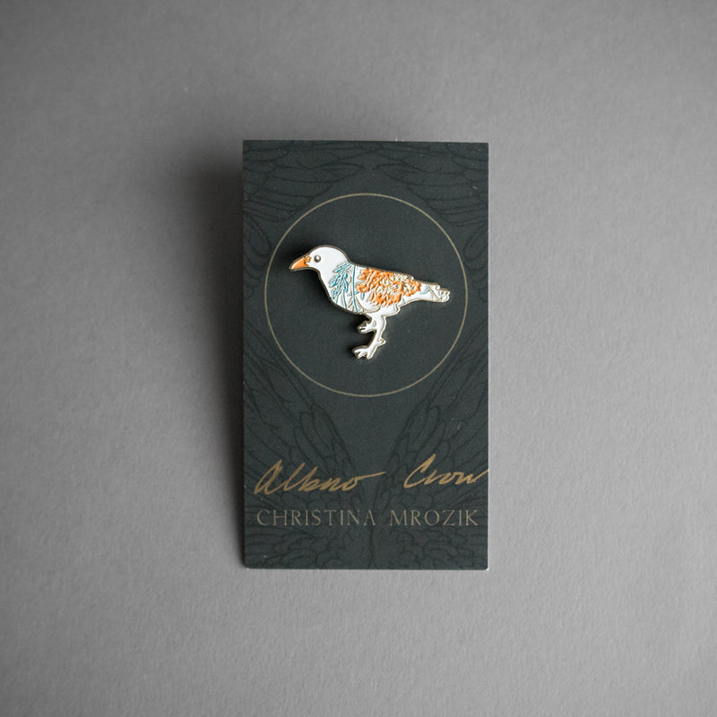 White Crow Soft Enamel Pin