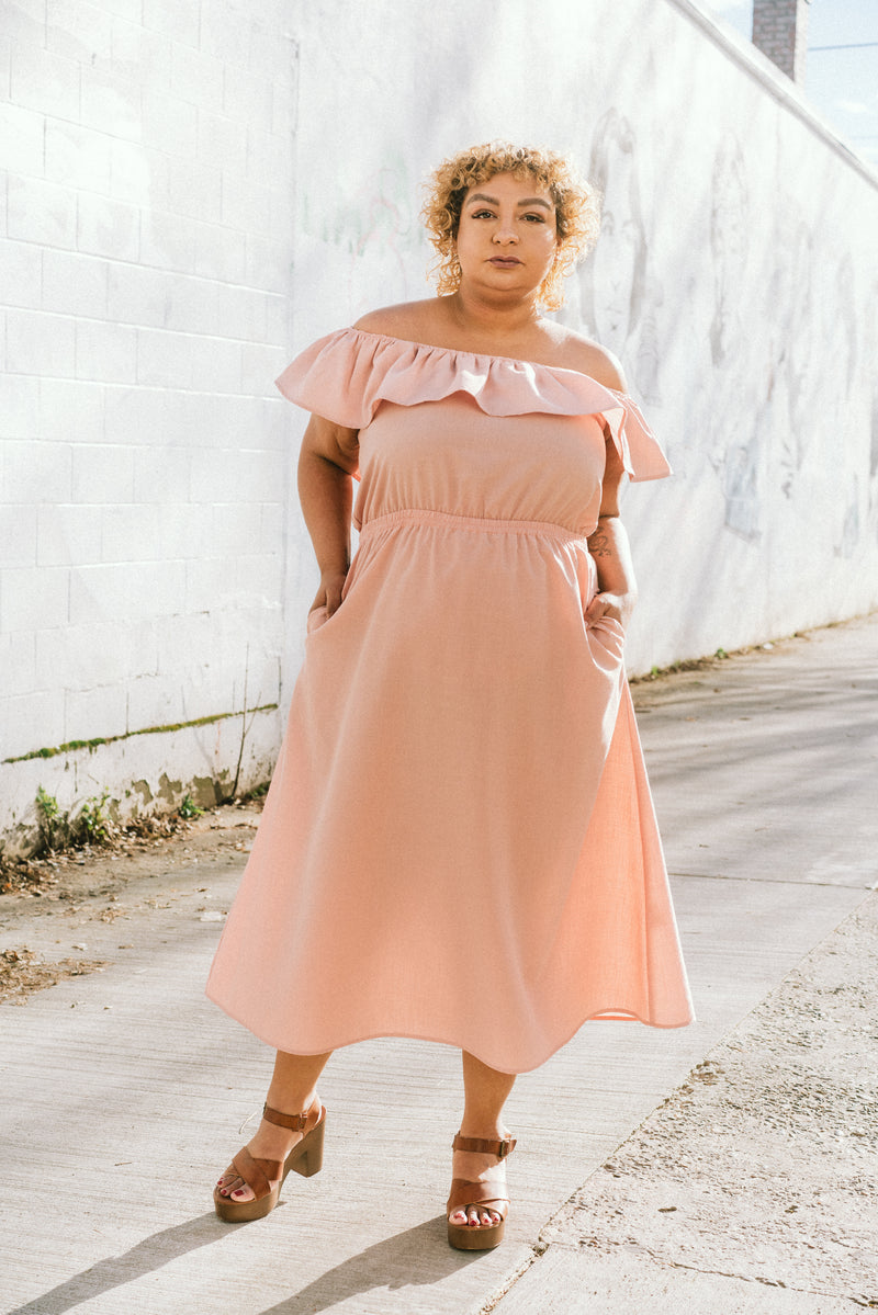 Aniela Dress in Blush +