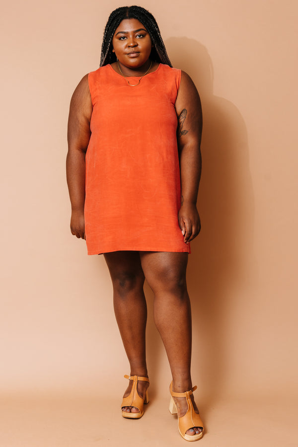 Coral Mini Shift Dress